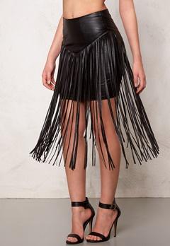 77thFLEA Frankie fringe skirt Black Bubbleroom.dk