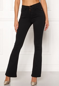 77thFLEA Jadah high waist flared superstretch Black Bubbleroom.dk