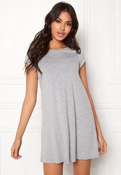 77thFLEA Lara t-shirt dress Grey melange Bubbleroom.dk