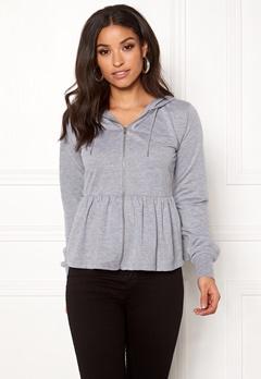 77thFLEA Lucy peplum sweater Grey melange Bubbleroom.dk