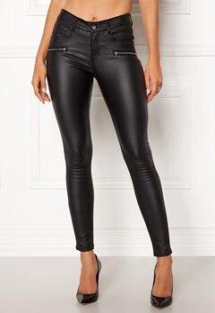 77thFLEA Moa coated jeans Black Bubbleroom.dk