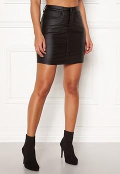 77thFLEA Nila coated skirt Black Bubbleroom.dk