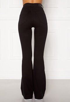 77thFLEA Tove high waist flared superstretch Black Bubbleroom.dk