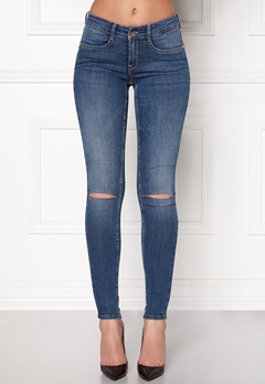 77thFLEA Vera superstretch jeans Medium blue Bubbleroom.dk