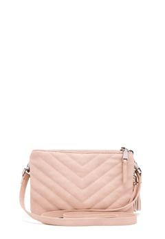OBJECT Adelle PU Quilted Bag Hushed Violet Bubbleroom.dk