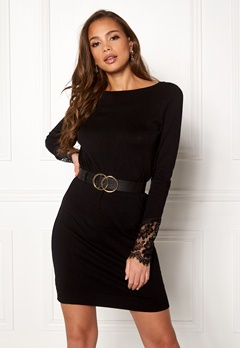 VERO MODA Ado Glory Boatneck Dress Black Bubbleroom.dk