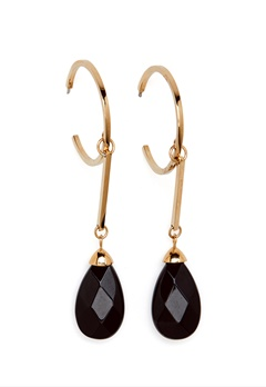 Dyrberg/Kern Akua Earrings Black Bubbleroom.dk