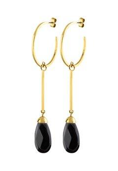 Dyrberg/Kern Akua Earrings Black Bubbleroom.dk