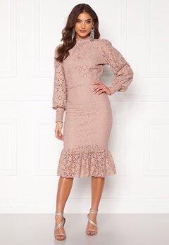 Alexandra Nilsson X Bubbleroom Lace flounce skirt Dusty lilac Bubbleroom.dk