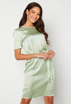 Alexandra Nilsson X Bubbleroom Satin T-shirt Dress Mint green Bubbleroom.dk