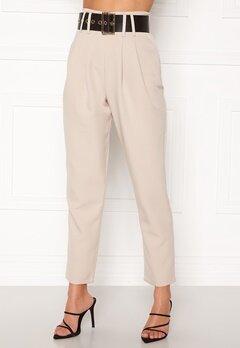Alexandra Nilsson X Bubbleroom Super highwaisted suit trousers Beige Bubbleroom.dk