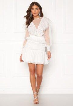 Alexandra Nilsson X Bubbleroom Tulle frill skirt Offwhite Bubbleroom.dk