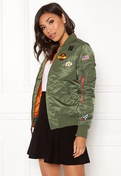 Alpha Industries MA-1 VF Patch Jacket Sage Green Bubbleroom.dk