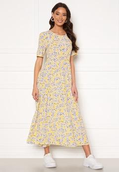 ONLY Amalie Life SS Midi Dress Mellow Yellow/Flower<br>  bubbleroom.dk