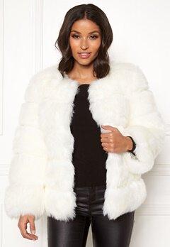AMO Couture Dusk Faux Fur Coat White Bubbleroom.dk