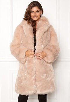 AMO Couture Imperial Faux Fur Long Coat Softy Beige Bubbleroom.dk