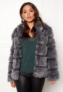 AMO Couture Phantom Faux Fur Short Coat Silver Fox Bubbleroom.dk