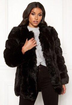 AMO Couture Renaissance Faux Fur Coat Black Bubbleroom.dk