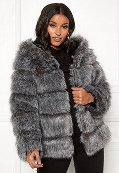 AMO Couture Roma Faux Fur Hood Coat Silver Fox Bubbleroom.dk