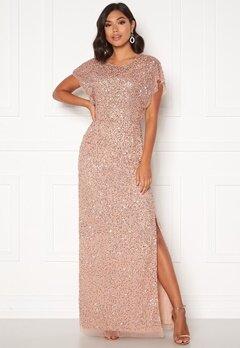 AngelEye Allover Sequin Maxi Dress Cameo Rose Bubbleroom.dk