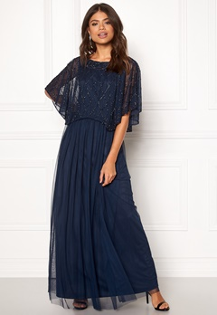 AngelEye Angel Sleeve Maxi Dress Navy Bubbleroom.dk