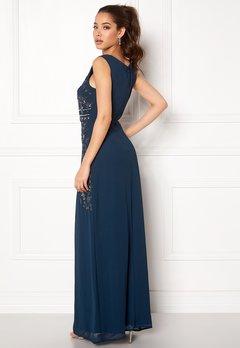 AngelEye Decorative Sequin Dress Navy Bubbleroom.dk