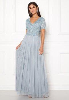 AngelEye Embellished Maxi Dress Heather Blue Bubbleroom.dk