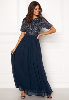AngelEye Embellished Maxi Dress Navy Bubbleroom.dk