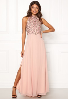 AngelEye High Neck Sequin Dress Pink Bubbleroom.dk