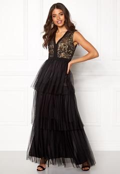 AngelEye Lace Bodice Maxi Dress Black Bubbleroom.dk
