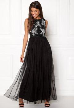 AngelEye Sequin Bodice Maxi Dress Black Bubbleroom.dk