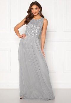AngelEye Sequin Bodice Maxi Dress Grey Bubbleroom.dk