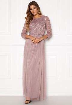 AngelEye Sequin Bodice Maxi Dress Lavender Bubbleroom.dk