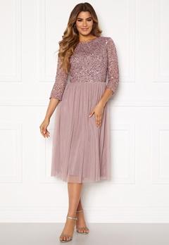 AngelEye Sequin Bodice Mid Dress Lavender Bubbleroom.dk