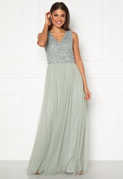 AngelEye Sequin Bodice V-Neck Maxi Dress Lily Bubbleroom.dk