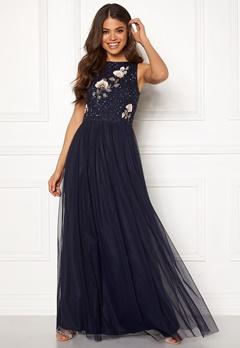 AngelEye Sequin Embroidered Dress Navy Bubbleroom.dk