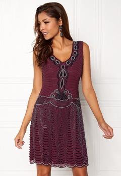 AngelEye Sequin Flapper Dress Wine Bubbleroom.dk