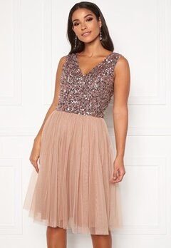 AngelEye Sequin Skater Dress Cameo Rose Bubbleroom.dk