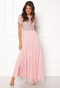 AngelEye Short Sleeve Sequin Dress Pink Bubbleroom.dk