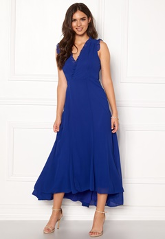 AngelEye Sleeveless Wrap Dress Blue Bubbleroom.dk