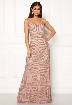 da364112f4d8 AngelEye Strappy Sequin Maxi Dress Cameo Rose Bubbleroom.dk