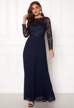 Chi Chi London Anneta Lace Maxi Dress Navy Bubbleroom.dk