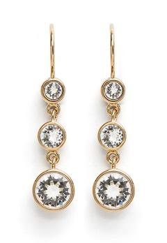 Dyrberg/Kern Anya Earrings White Bubbleroom.dk