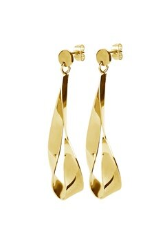 Dyrberg/Kern Arc Shiny Earrings Gold Bubbleroom.dk