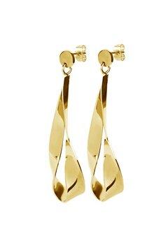 Dyrberg/Kern Arc Shiny Earrings Gold Bubbleroom.dk