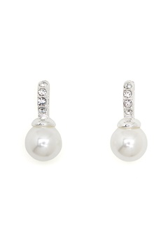 SNÖ of Sweden Astrid Earrings White Bubbleroom.dk