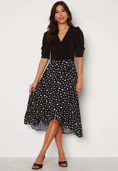 AX Paris 2 For 1 Wrap Front Dress Black Bubbleroom.dk