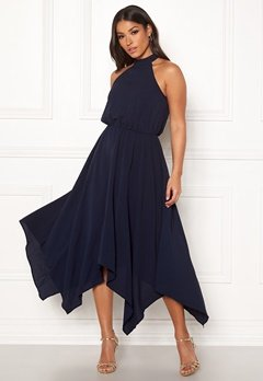 AX Paris Asymmetric Maxi Dress Navy Bubbleroom.dk