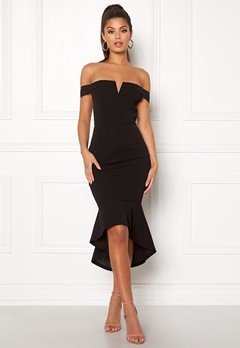 AX Paris Bardot Fishtail Dress Black Bubbleroom.dk