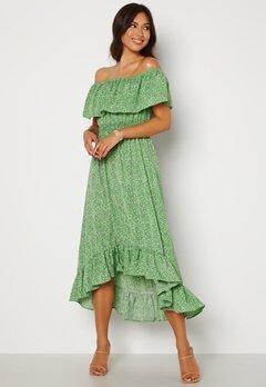 AX Paris Bardot Frill Midaxi Dress Green Bubbleroom.dk